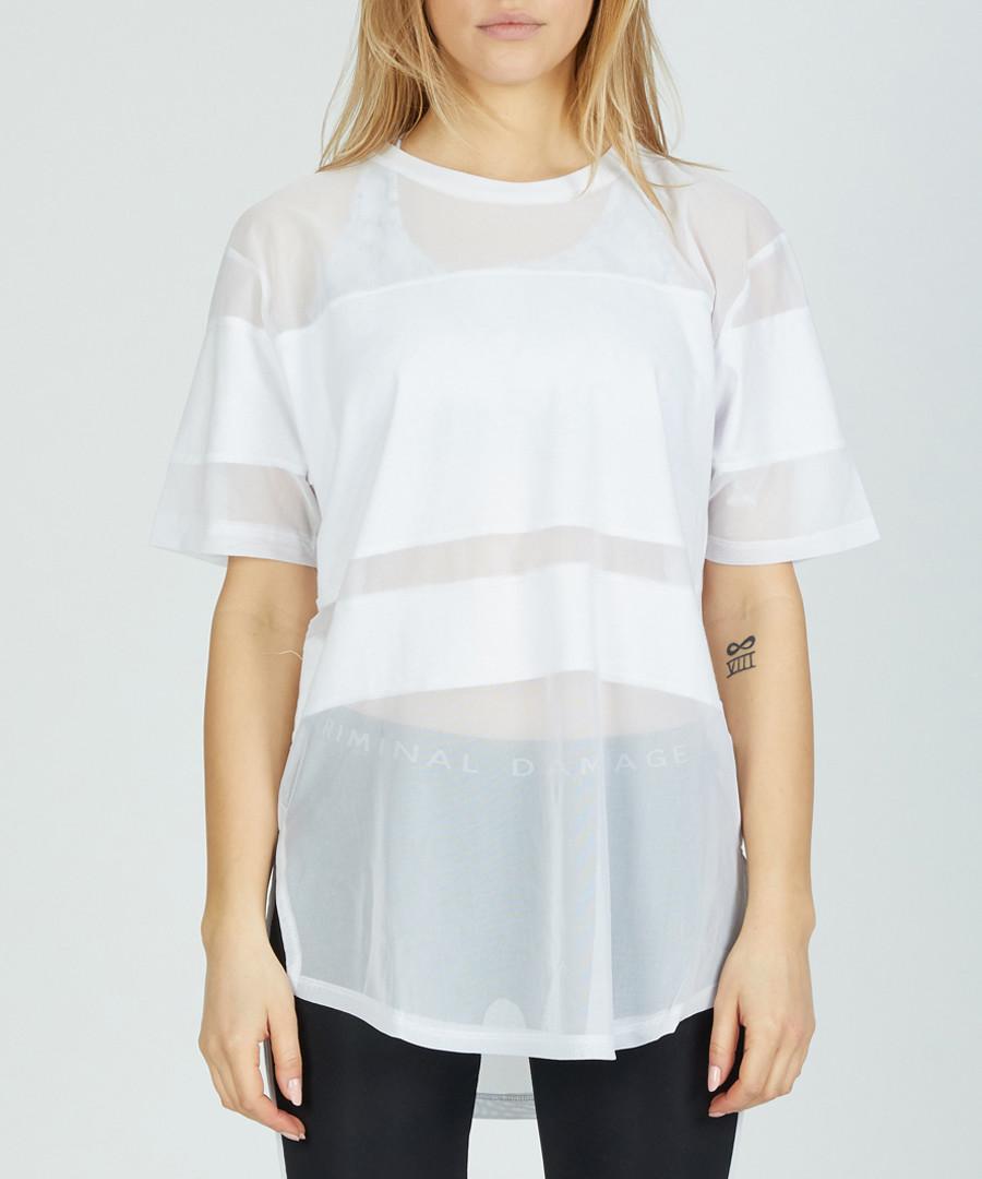 white panel sheer T-shirt Sale - criminal damage
