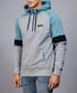 Drew grey & teal hoodie Sale - devote Sale