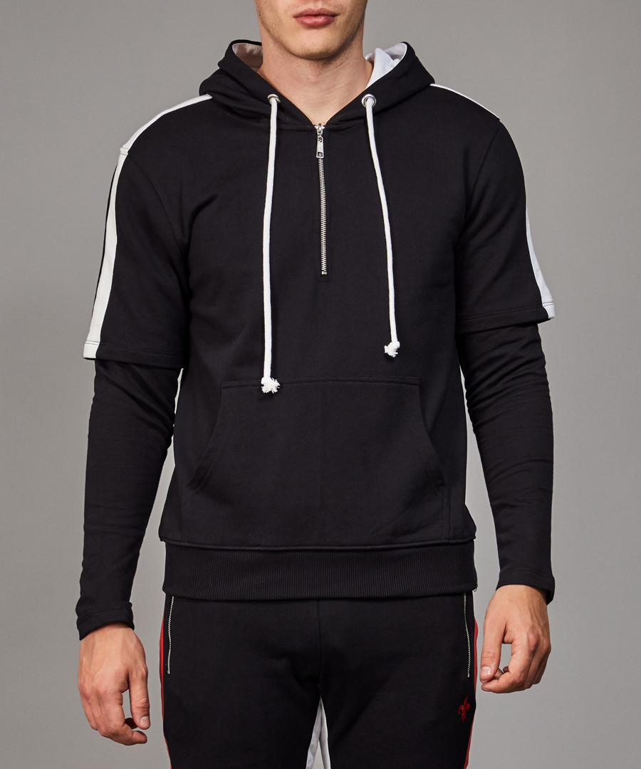 Baller black & white tape hoodie Sale - criminal damage