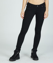 black pure cotton hand skinny jeans