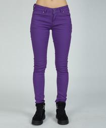 purple pure cotton skinny jeans