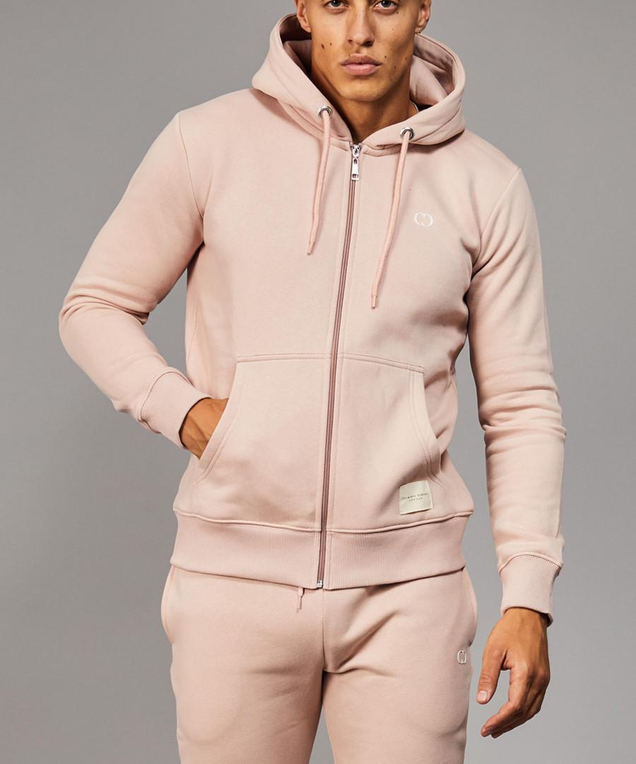 Muscle pink zip-up hoodie Sale - criminal damage