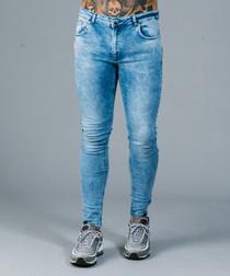 Notting spray blue cotton jeans