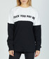 Pay Me Monochrome pure cotton jumper Sale - criminal damage Sale