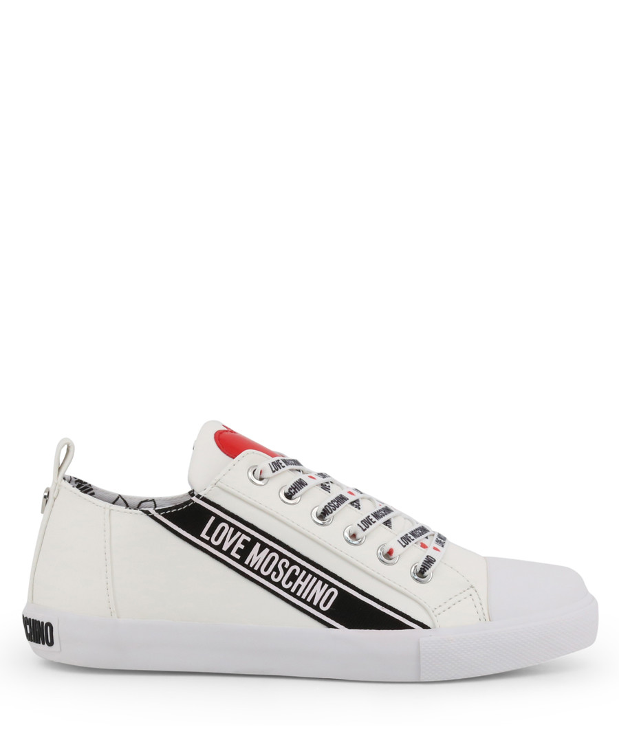 white logo lace sneakers Sale - love moschino