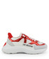 white & red leather mix sneakers Sale - love moschino Sale
