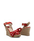 red heart cutaway wedge sandals Sale - love moschino Sale