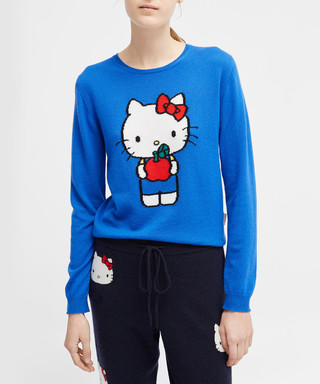 97e1f5824 chinti & parker. hello kitty apples blue cashmere jumper