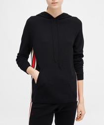 jalisco black cashmere & wool hoodie
