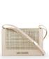 cream & gold-tone stud shoulder bag Sale - love moschino Sale