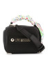 black faux-leather ribbon crossbody Sale - love moschino Sale