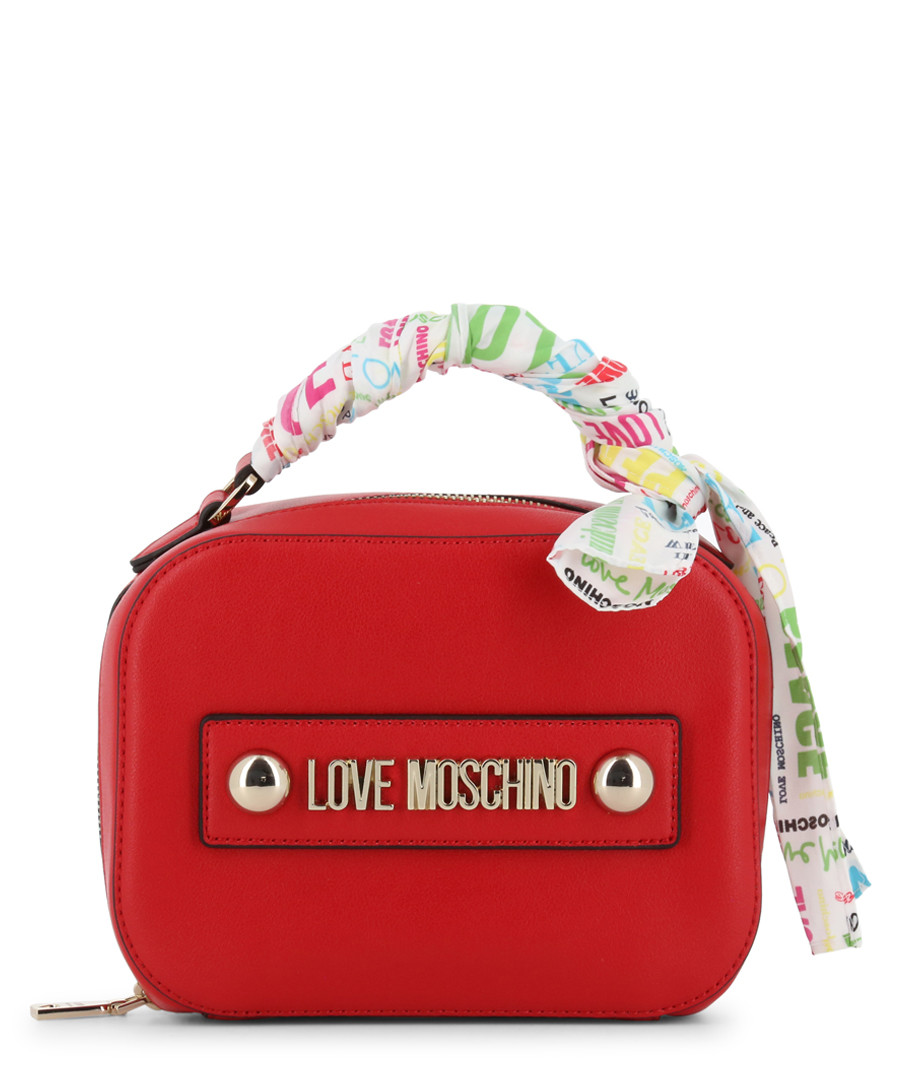 red faux-leather ribbon shoulder bag Sale - love moschino