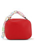 red faux-leather ribbon shoulder bag Sale - love moschino Sale