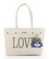 Love cream faux-leather charm shopper Sale - love moschino Sale