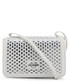 silver-tone faux-leather crossbody bag Sale - love moschino Sale