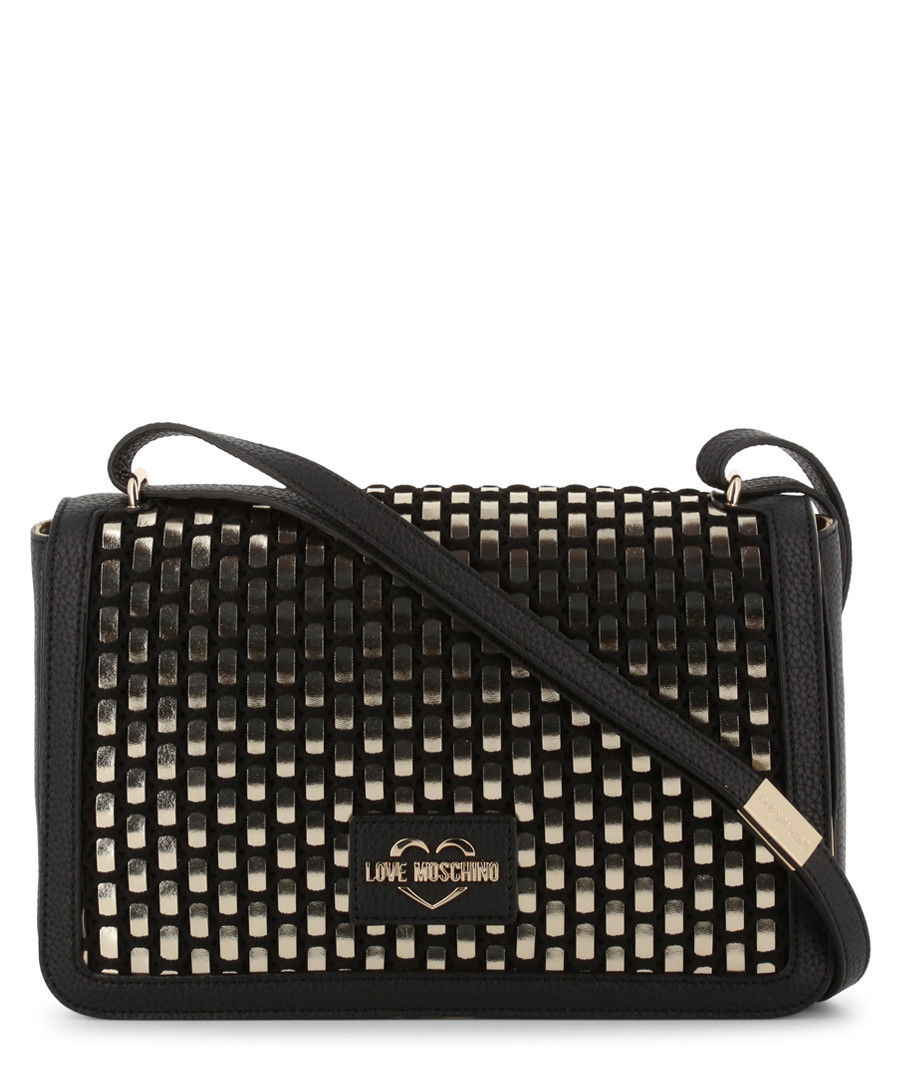 gold-tone faux-leather crossbody bag Sale - love moschino
