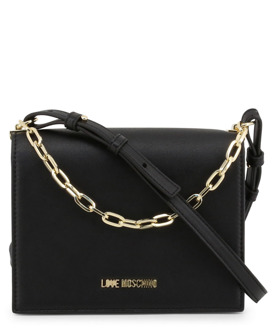 chain black faux-leather crossbody Sale - love moschino
