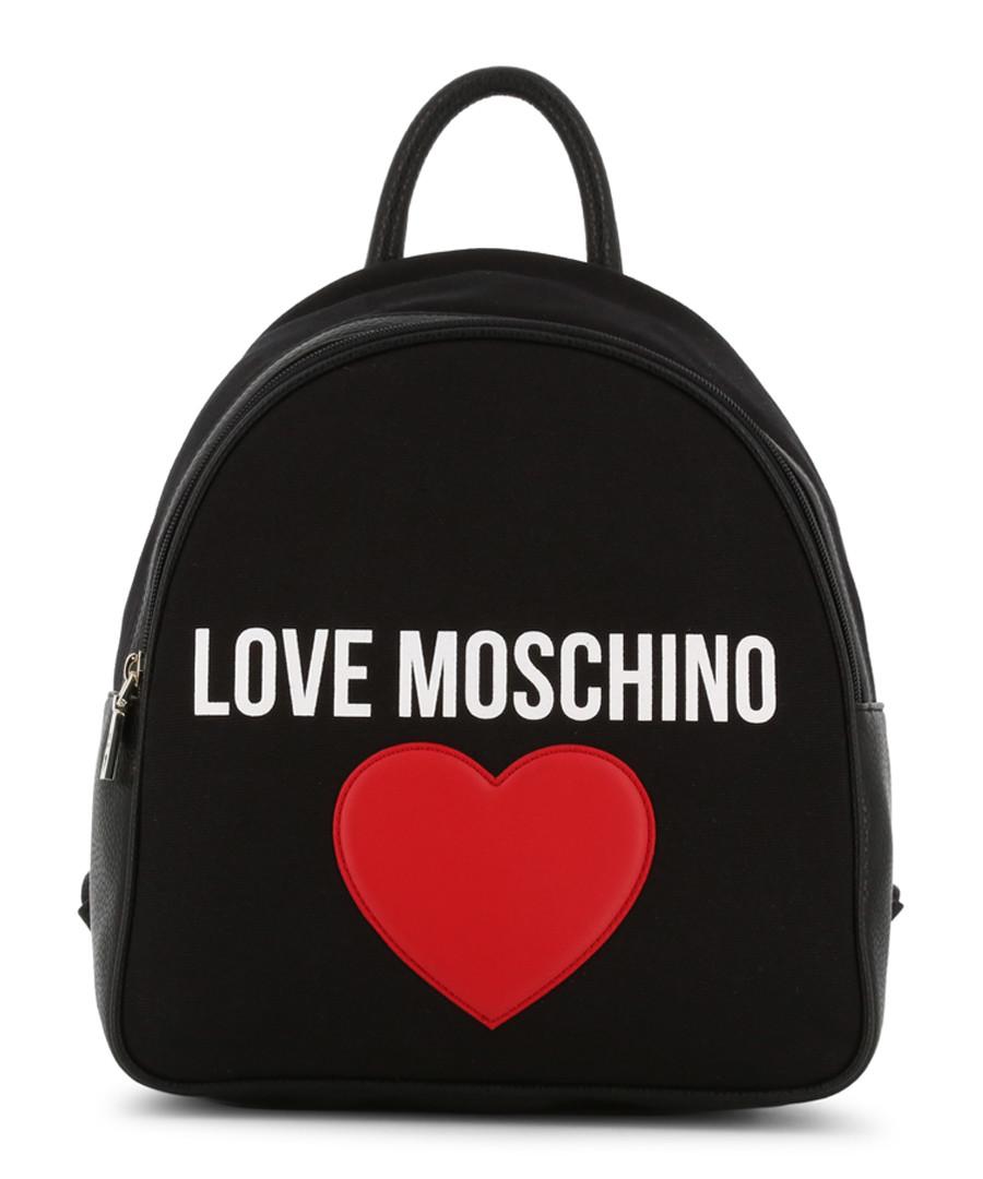 black fabric heart backpack Sale - love moschino