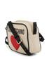 cream fabric heart crossbody bag  Sale - love moschino Sale