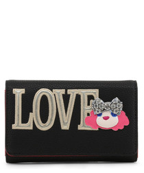 Love black faux-leather fold purse