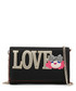 Love black faux-leather fold purse Sale - love moschino Sale
