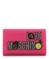 pink faux-leather patch logo zip purse Sale - love moschino Sale