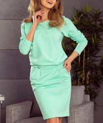 mint slouch long sleeve dress