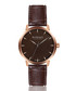 aachen walnut leather watch Sale - walter bach Sale