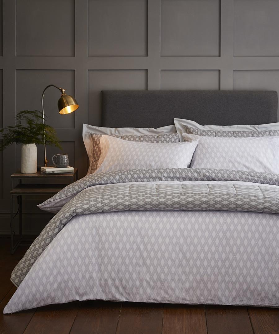 Fairmont grey cotton single duvet set Sale - the linen consultancy