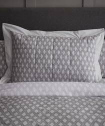 Fairmont grey cotton king duvet set