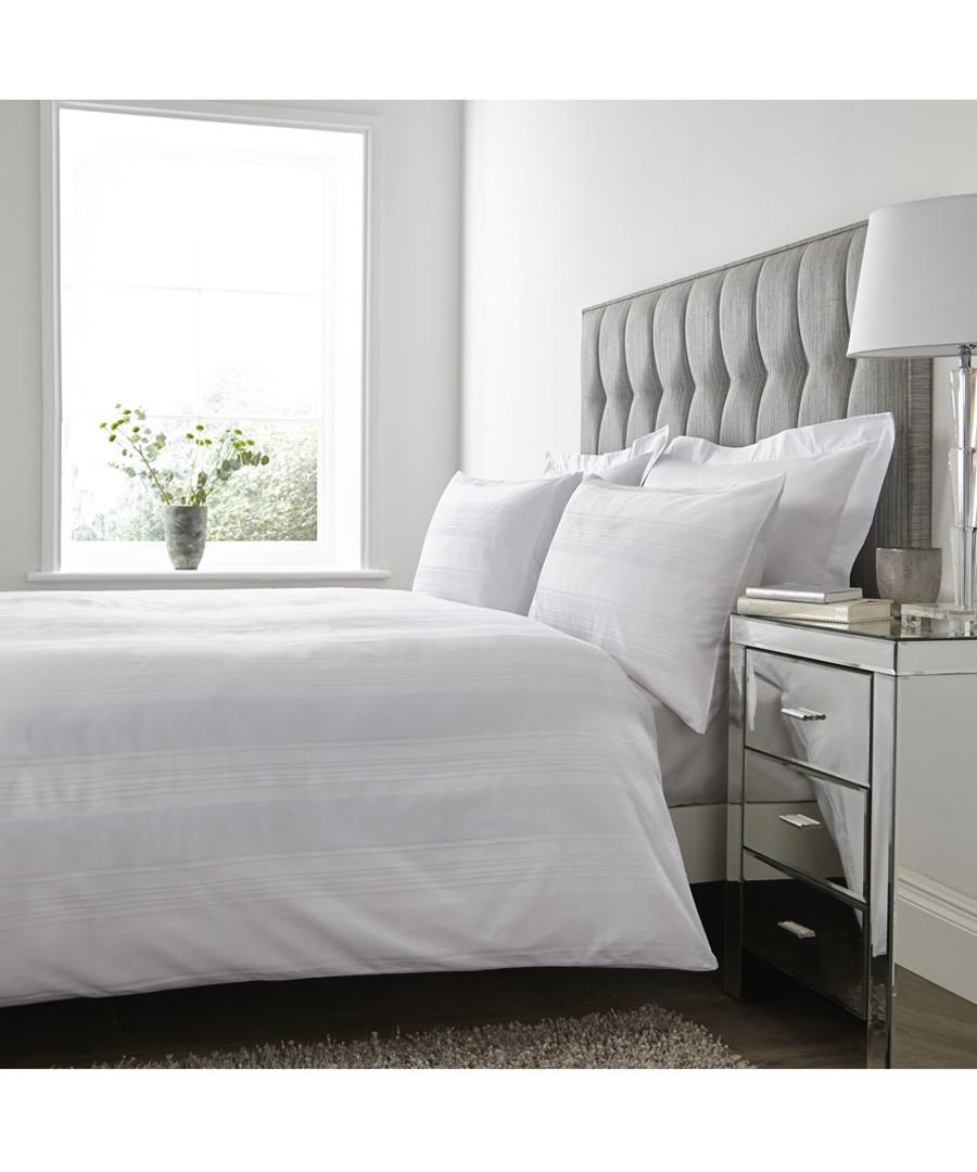 Mayfair white cotton king duvet set Sale - the linen consultancy
