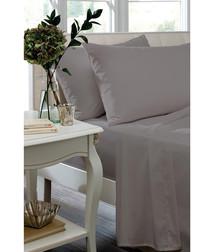 Silver cotton sateen double bedsheet