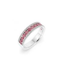 1.50ct ruby & diamond half eternity ring