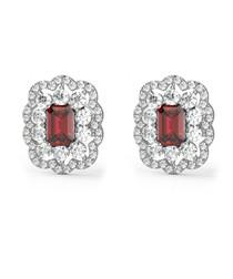 1.30ct ruby & diamond earrings