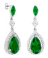 Juliet 18k gold-plated green earrings Sale - bertha Sale