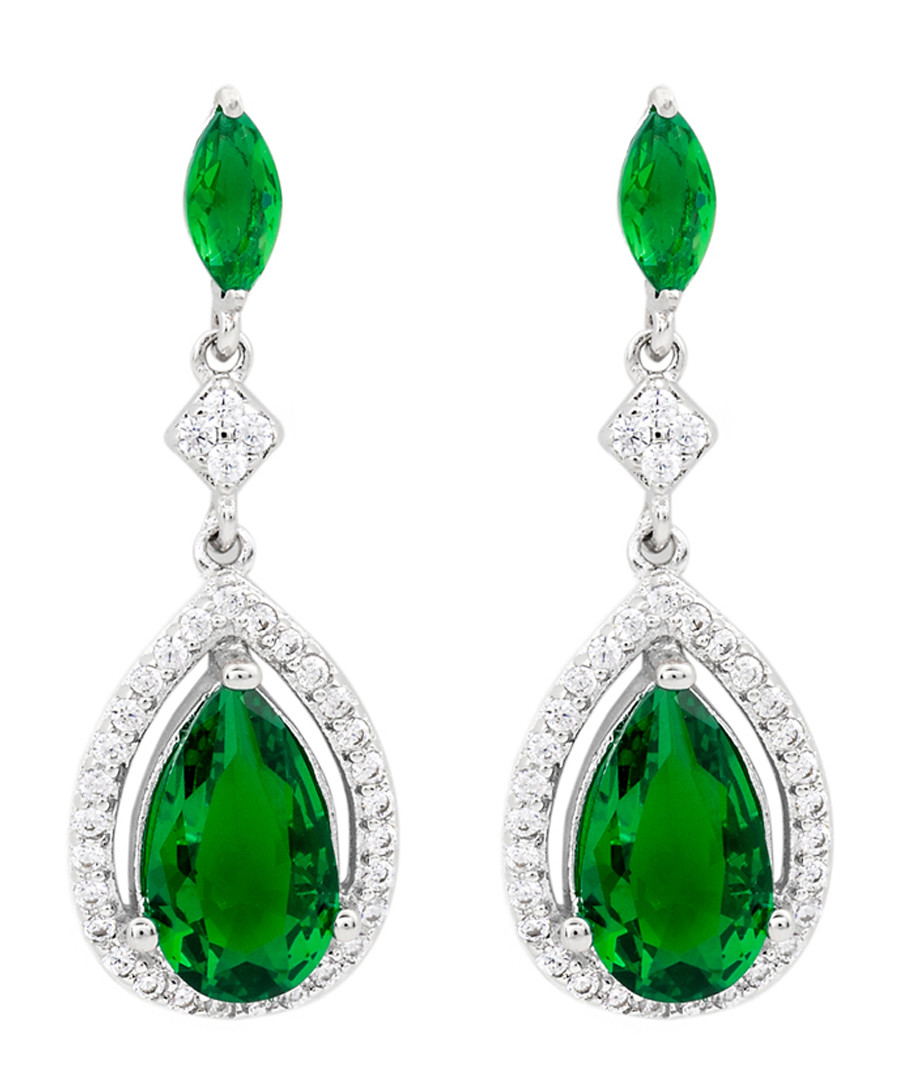 Juliet 18k gold-plated green earrings Sale - bertha