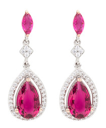 Juliet 18k gold-plated fuchsia earrings