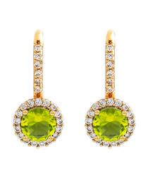Juliet gold-plated lime drop earrings