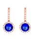 Juliet rose-plated blue drop earrings Sale - bertha Sale