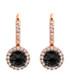 Juliet rose-plated black drop earrings Sale - bertha Sale