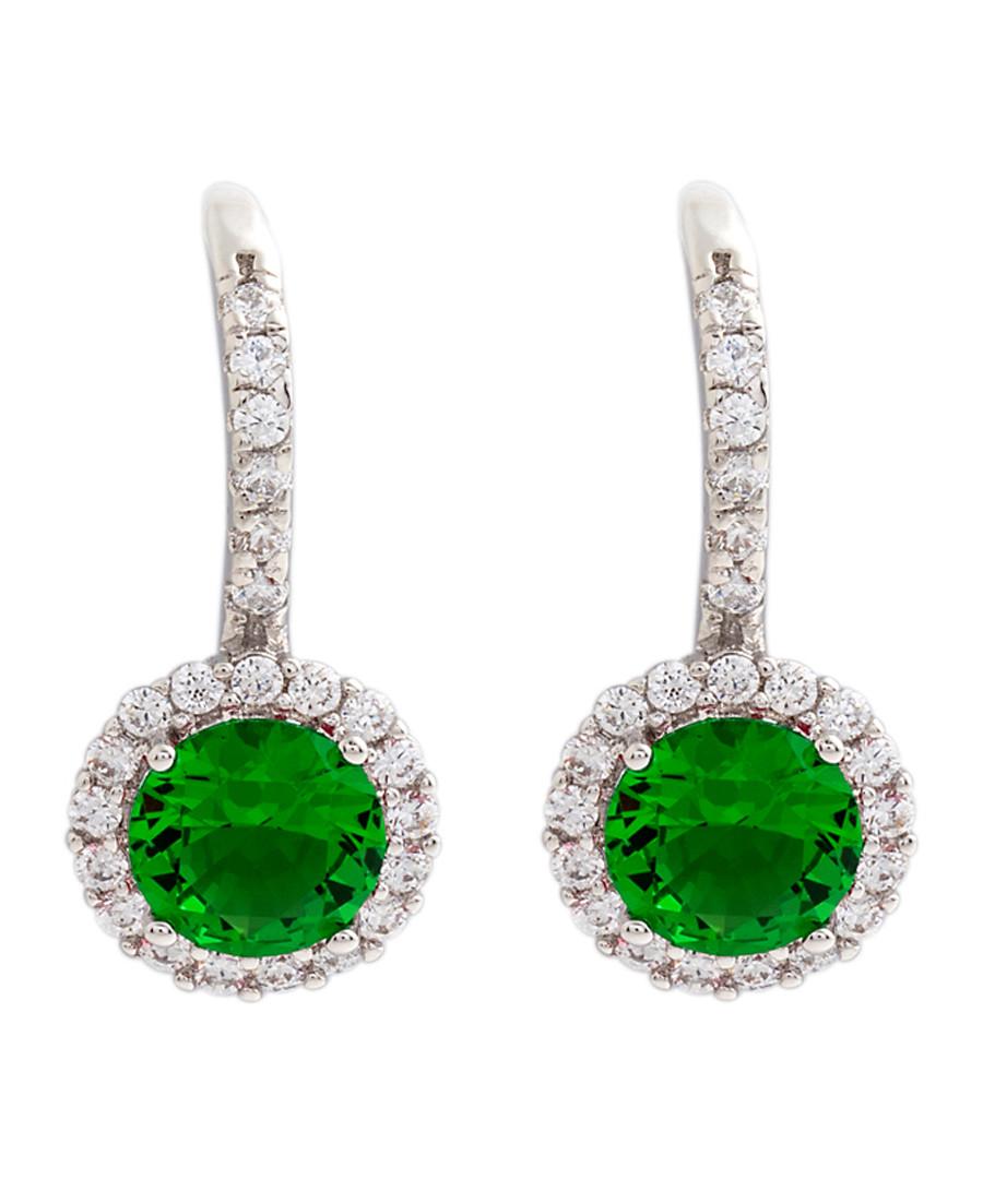 Juliet gold-plated green drop earrings Sale - bertha