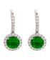 Juliet gold-plated green drop earrings Sale - bertha Sale