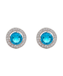 Juliet white gold-plated sky studs