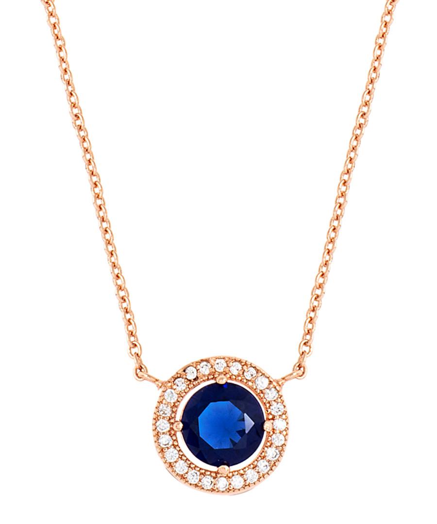 Juliet rose gold-plated blue necklace Sale - bertha