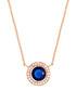 Juliet rose gold-plated blue necklace Sale - bertha Sale