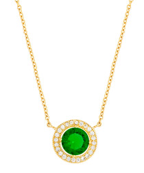 Juliet 18k yellow gold-plated cubic zirconia necklace