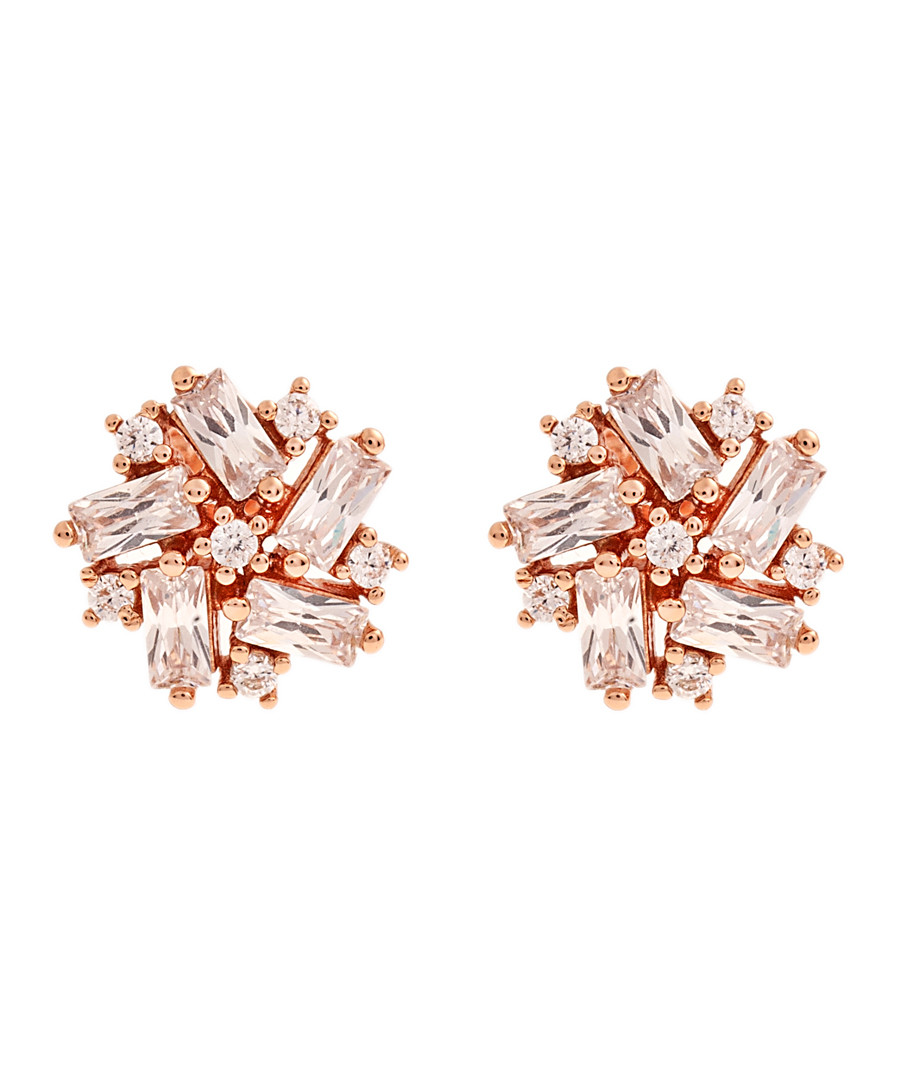 Juliet rose gold-plated cluster studs Sale - bertha