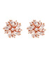 Juliet rose gold-plated cluster studs Sale - bertha Sale