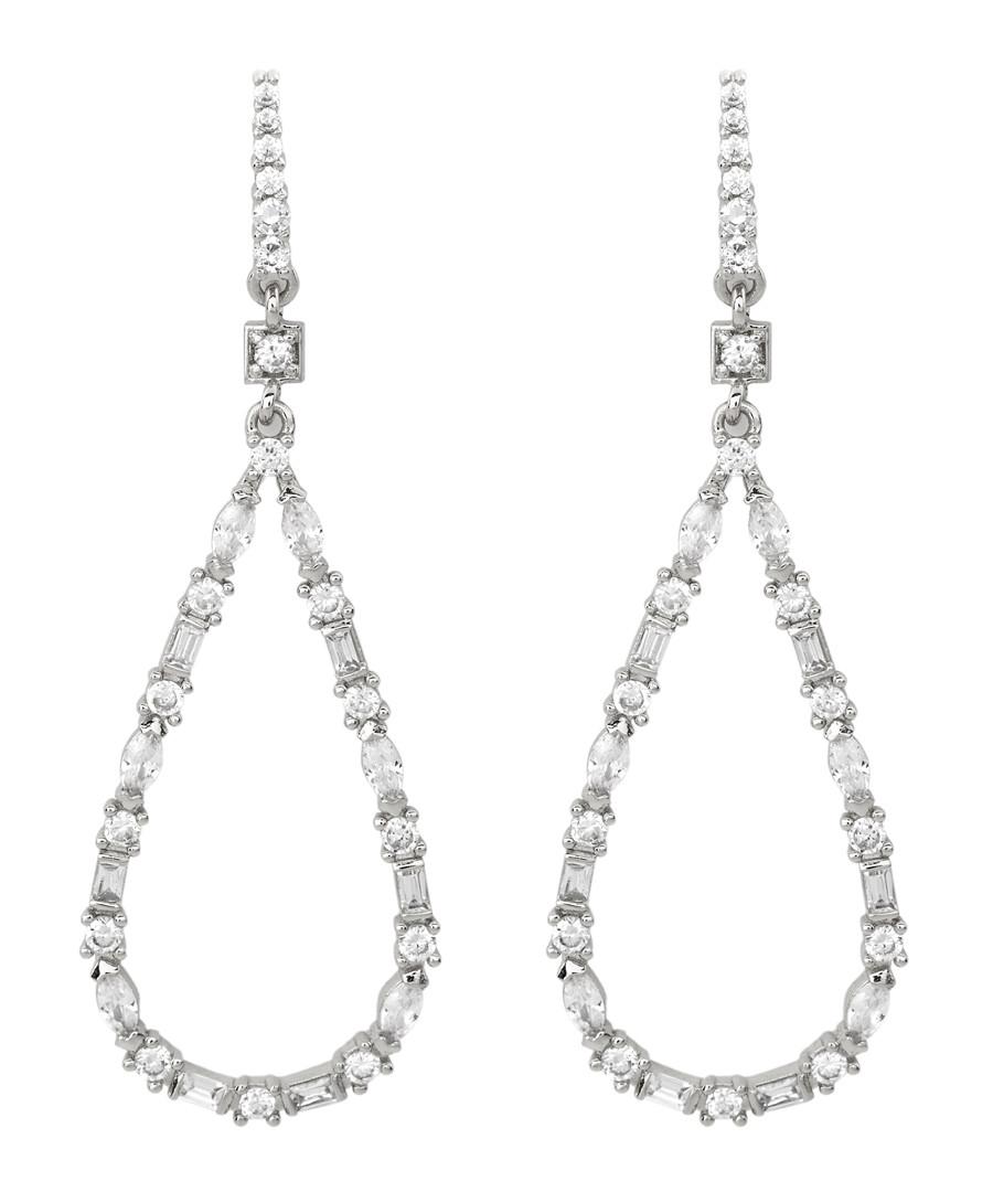 Juliet white gold-plated pear earrings Sale - bertha