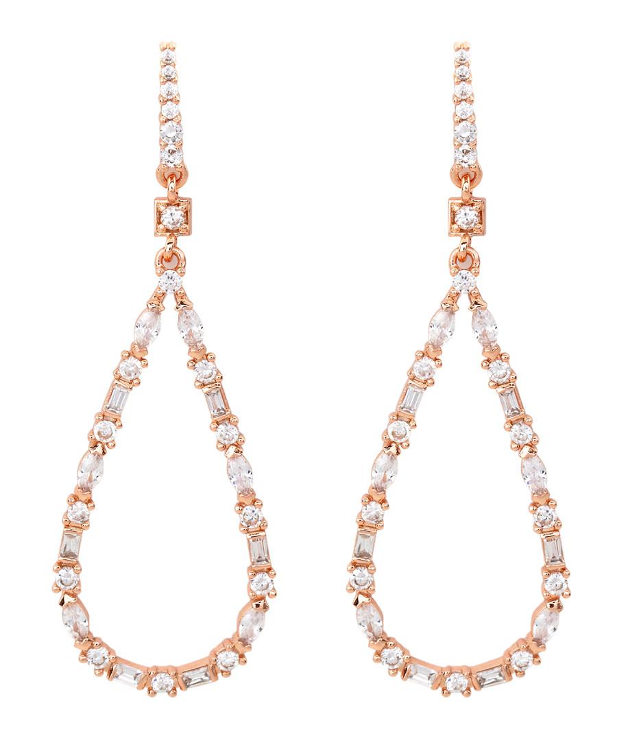 Juliet rose gold-plated pear earrings Sale - bertha